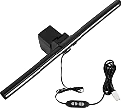 YUHAN Smart Screen e-Reding lamp, USB Screenbar LED Reading Light Eye Care with Auto-Dimming and Hue Adjustment Screen Glare Free, Home Office Lamp for Computer & Laptop Monitor (Matte Black)