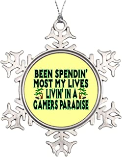 Funny Snowflake Ornament Gamers Paradise Outdoor Tree Xmas Gifts Ideas for Tree Decorating