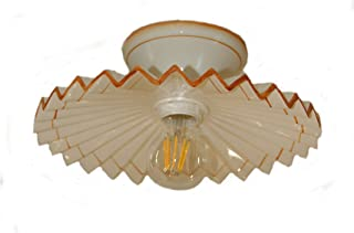 VANNI LAMPADARI - Lampada Da Soffitto Piatto Plissè Art.001/367 Diametro 30 in Ceramica Decorata a Mano Disponibile Colore...