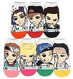 Women Kpop Exo Cartoon Socks 7-pack