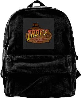 maichengxuan Mochila de lona Indys Adventure Camp Indiana Jones Mochila de gimnasio, senderismo, portátil, bolsa de hombro para hombres y mujeres