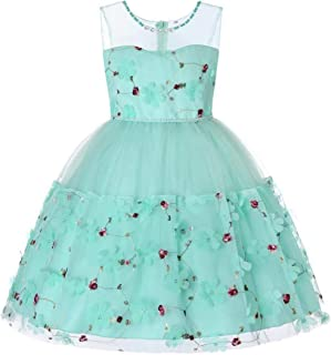 Cocaker Girl Dresses Kids Dresses for Wedding Bridesmaid Pageant Size 8 Sundress