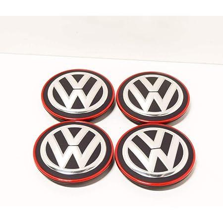 Vag Ersatzteil Original Volkswagen Set 4 Teile X Radkappen Mitte Räder Alufelgen Chrom Rot 5g0601171blyc Auto