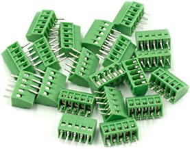 Hxchen 5-Pin 2.54mm Pitch 150V 6A PCB Mount Screw Terminal Block Connector - (20 Pcs)