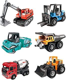 TOMMYFIELD 建設車両 おもちゃ 作業車両 工事現場 ミニカー 砂場 車 車両 ショベルカー プレゼント 5個 セット (カラフル)