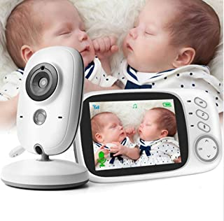LUCKY ZERO 2025 Baby Monitor with Video Camera, Wireless Baby Monitor Temperature Monitoring Night Vision Baby Lullaby 3.2