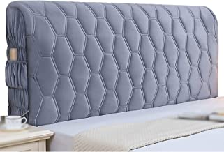 Flannel Bed Head Cover Thicken All-Inclusive Headboard Cover Luxury Soft Bed Head Back Protection Dust Cover (Color : Gra...