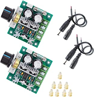 2 packs 12V-40V 8A PWM DC motor controller Variable speed governor Speed control knob with reverse polarity protection 12v variable speed switch pulse width modulator