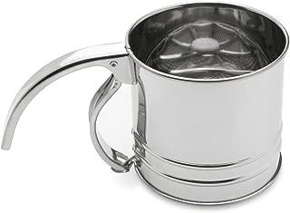 Fox Run 4652 Flour Sifter, Stainless Steel, 1-Cup