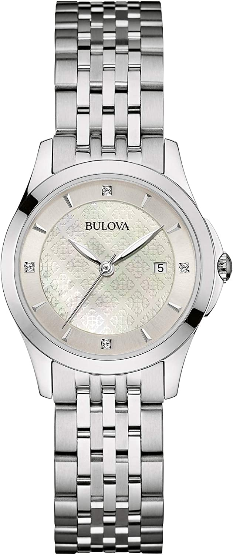 Bulova Reloj Analogico para Mujer de Cuarzo con Correa en Acero Inoxidable 96S160