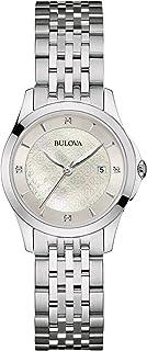Bulova - Reloj Analogico para Mujer de Cuarzo con Correa en Acero Inoxidable 96S160