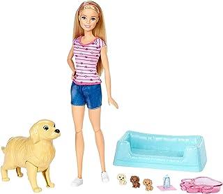 Barbie Bambola Veterinaria con Cagnolina incinta, 3 Cuccioli Appena Nati, Giocattolo per Bambini 3 + Anni, FDD43