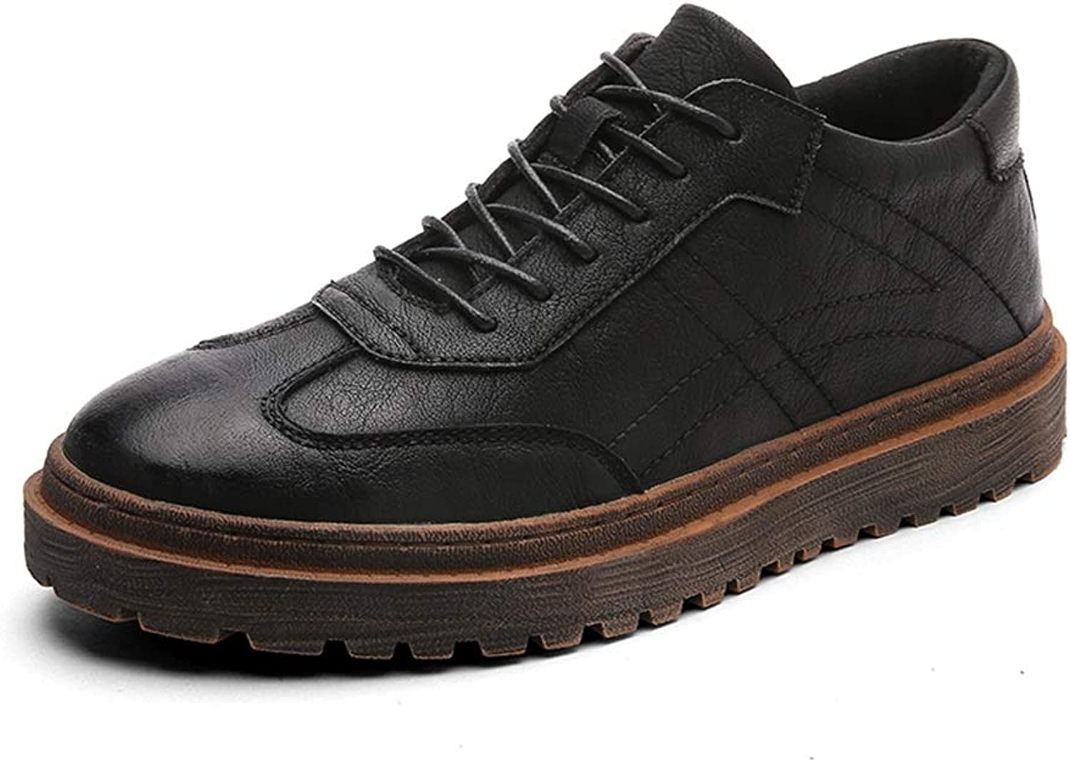 SRY-Fashion shoes Men's Simple Fashion Oxford Casual Simple British Style Outsole Lace-up Formal shoes