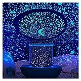 YXCKG Luz Nocturna para Niños, Proyector De Luz Estrellas Galaxia para Habitación Luces De Fiesta Decoración De Estrellas De Techo, Proyector De Nebulosa Giratorio, Mejor Regalo, Cumpleaños, Navidad
