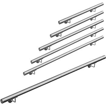 Pasamanos acero inoxidable 316 barandilla baranda pasamanos para pared pared escalera Montaje 50 - 600 cm V2Aox, Length:200 cm: Amazon.es: Bricolaje y herramientas