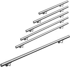 V2Aox Acero Inoxidable Pasamanos Barandilla Baranda para Escalera Montaje Pared 3 Colores 50-600 cm Longitud:80 cm Color:Blanco