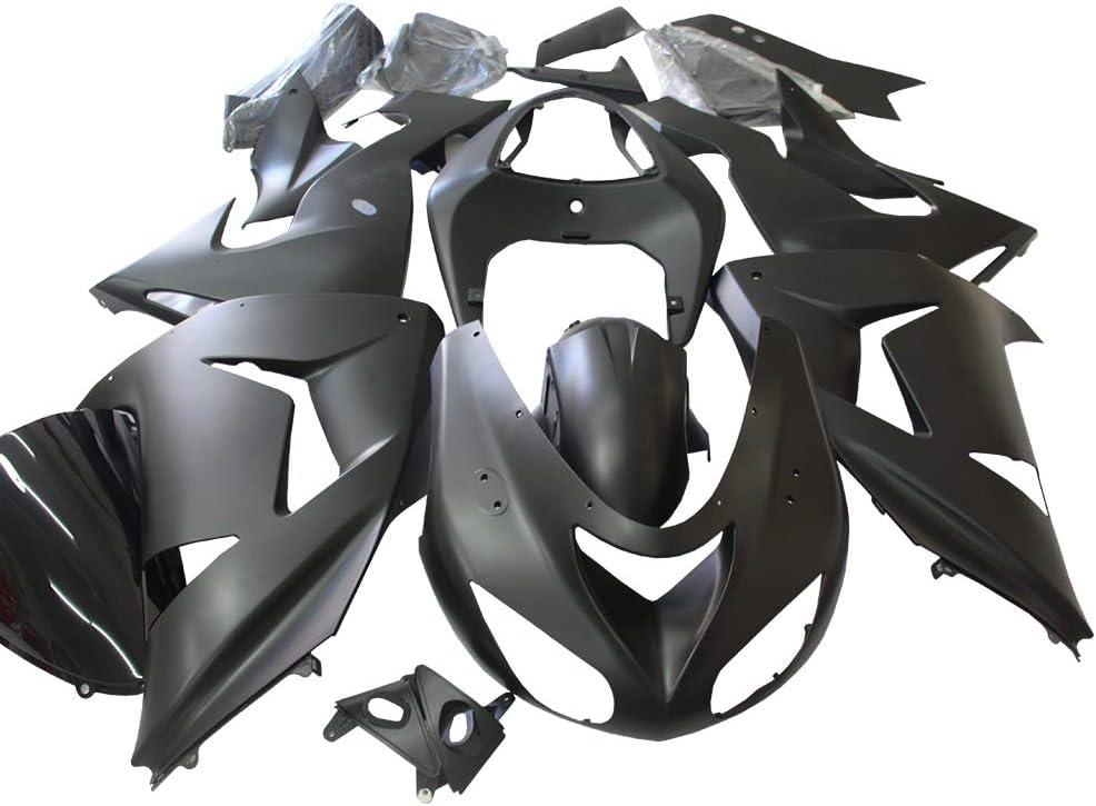 ZXMT Cash special price Motorcycle Fairing Kit Over item handling Matte Black Ni Fairings for Kawasaki