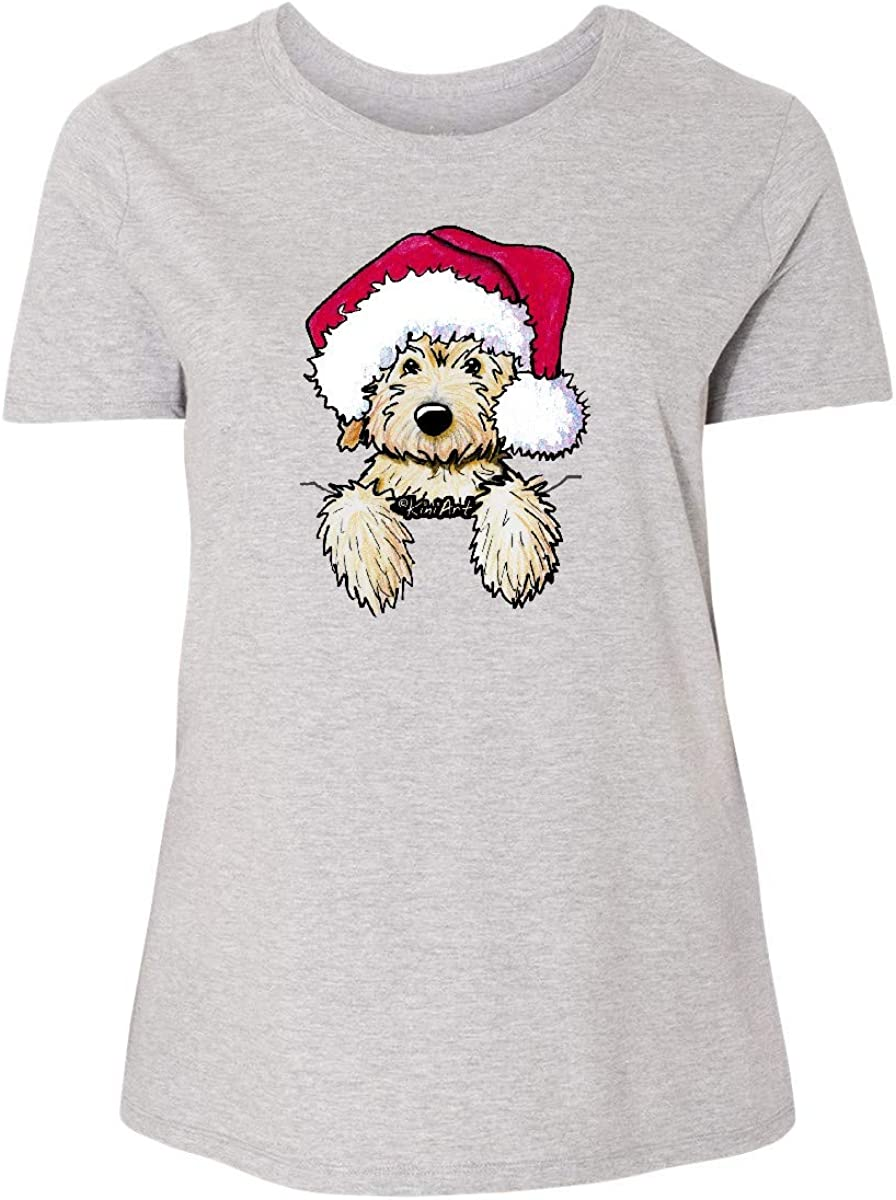inktastic Sales for sale OFFicial site KiniArt Christmas Goldendoodle Plus Women's T-Shi Size