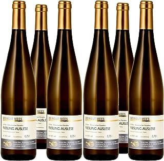 Weingut Mees RIESLING EDELSÜSS SÜSS AUSLESE 2018 KREUZNACHER PARADIES Prämiert Weißwein Wein süß Deutschland Nahe Paket 6 x 750 ml 100% Riesling
