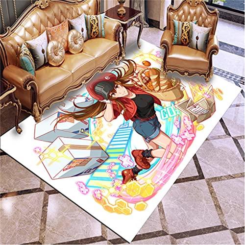 Anime Hataraku Saibou Cells At Work Alfombras Dormitorio Sala De Estar Mesa De Té Sofá Alfombras Antideslizantes Alfombras De Piso Alfombra De Juego para Niños 80X120Cm