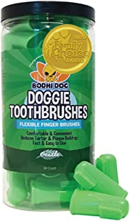 Sponsored Ad - Gentle Disposable Dog Toothbrushes | Soft High Grade Finger Toothbrush with Silicone Bristles for Pet Denta...