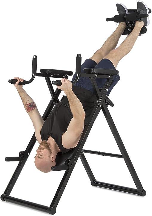Panca a inversione, per allenamento della schiena, panchina 6 in 1, multittrainer inversione klarfit power-gy FIT6-TAR 61