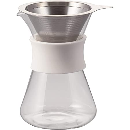 HARIO(ハリオ) ガラスコーヒーメーカー Glass Coffee Maker 実用400ml ホワイト 日本製 S-GCM-40-W