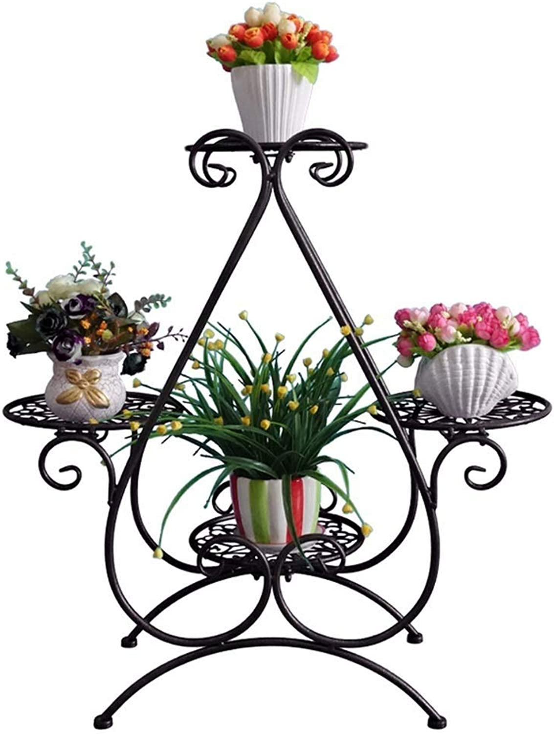 Plant Container Iron Flower Stand, Multi-Layer Plant Stand Decoration Indoor Living Room Balcony Flower Pot Rack 40x70cm