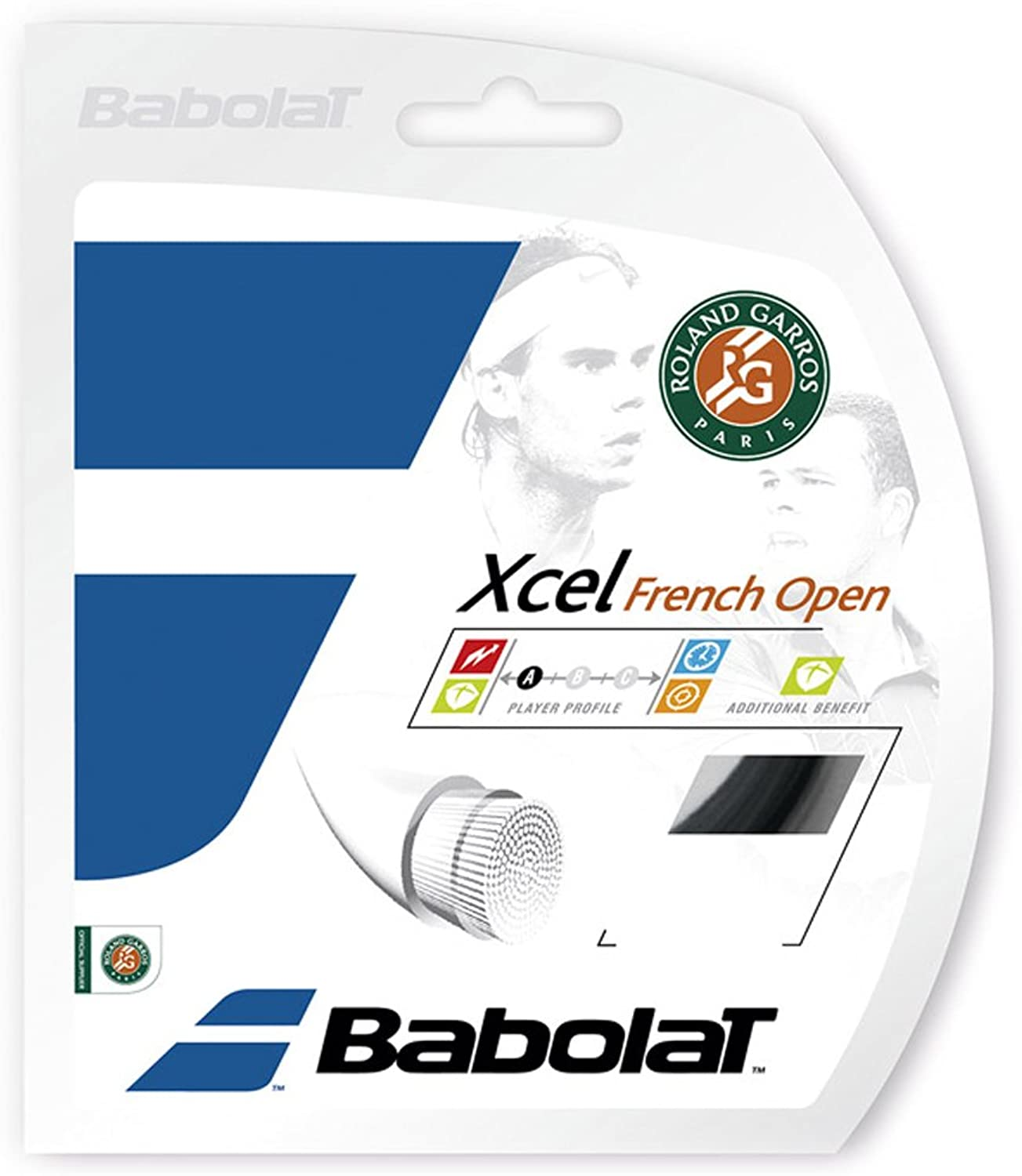 Babolat Xcel French Open 16 Tennis String Black