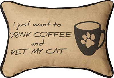 """17/"""" x 9/"""" CAT PILLOW PILLOWS /""""ONE CAT JUST LEADS TO ANOTHER/"""" THROW PILLOW"""