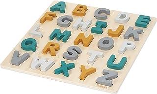 Kindsgut Puzzle ABC, Puzzle en Bois Alphabet avec Lettres à encastrer, Caspar
