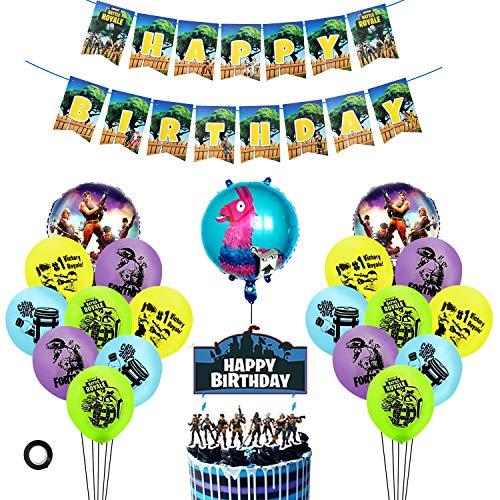 BESLIME ESLIME Artículos de Fiestas para Fanáticos de los Videojuegos Decoraciones para Cumpleaños de Tema de Videojuegos con Globos Cake Toppers para Decoraciones