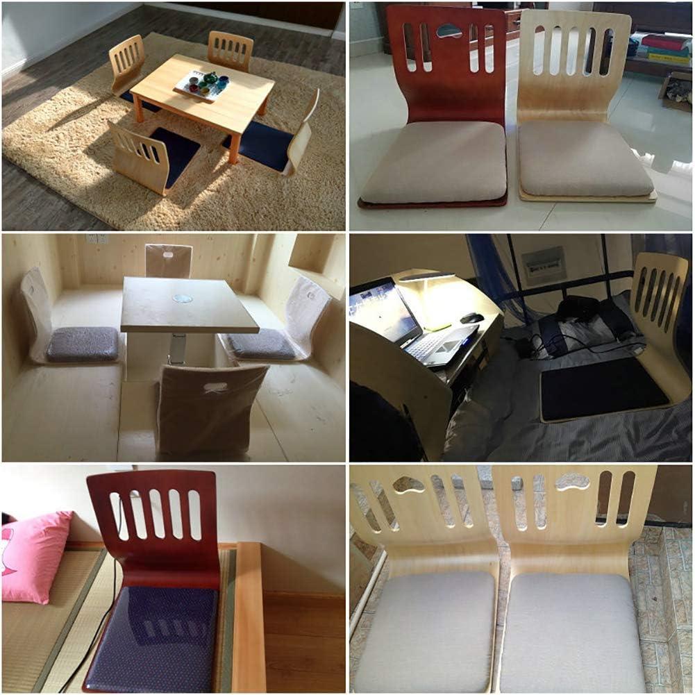 YLCJ Wood Tatami Chaise de Sol Canapé Paresseux Jeu Méditation Assise avec Support pour Le Dos Fauteuil sans Pieds - M G