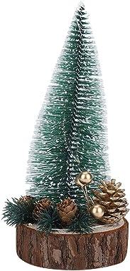 01 Mini árbol de Navidad, Mini árbol de Navidad de Escritorio Robusto Durable del Metal para el hogar para la Oficina