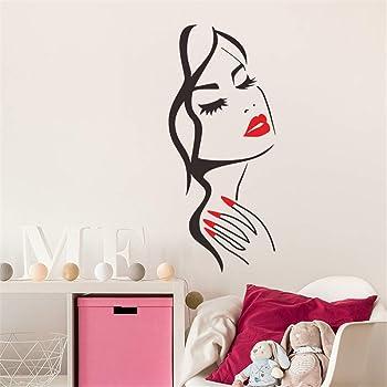 Sencillo Vida Pegatinas de pared vinilo Avatar de La belleza adhesivo decorativo para las niñas habitación de niño Wall Stickers salón dormitorio TV fondo Inicio: Amazon.es: Bricolaje y herramientas