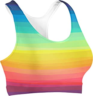 Rainbow Rules Color Up Your Life! Sports Bra