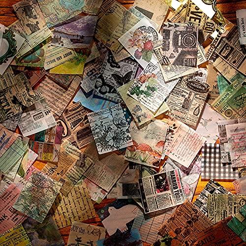 366 Blätter Scrapbooking Papier Klein Vintage Blumen Scrapbooking Zubehör Dekopapier Scrapbooking mit vielen Motiven für Tagebuch Notizbuch DIY Kunst und Handwerk 40 x 50mm