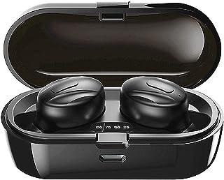 Trådlösa hörlurar, 2021 Uppdaterad trådlös Bluetooth 5.1 med stereoljud och mikrofon för sport, vattentät IPX5 med 2000 mA...