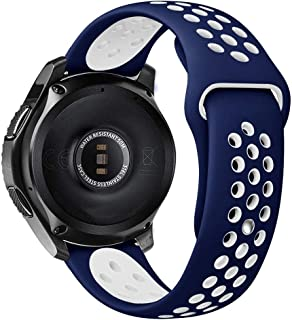 For Samsung Gear S3 / Galaxy Watch / Huawei GT2 / Fossil Breathable Nike Sport Band Design with Air Holes and Quick Releas...