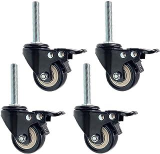 Wielen met draaischarnier, 1,5 inch, 38 mm, polyurethaan, Castor Workbank, wagen met wielen, wielen in beweging met schroe...
