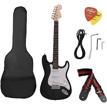 ammoon ST Eléctrico Guitarra Tilo Cuerpo Diapasón de Palo Rosa con ...