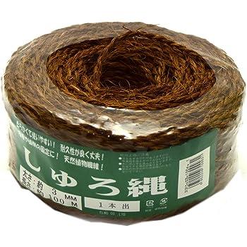 園芸しゅろ縄 茶 3×100m
