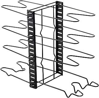 SPNEC Support de Stockage de Casserole Multi-Fonctions 8 Niveaux de Casserole de poêle à Frire Couvercle de Support de Ran...