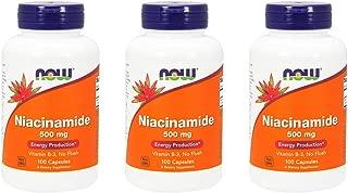 Now Foods Niacinamide 500mg, Vitamin B-3 Capsules, 300-Count