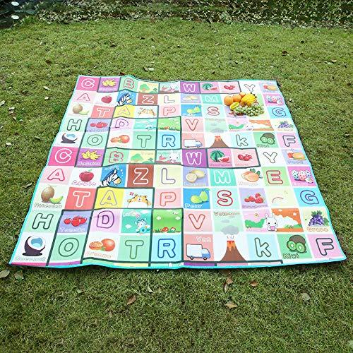 Brioel Picknickdecke Outdoor Schaum Picknickmatte Eingepflastert Eapping Matte Kinder Feuchtigkeitsbeständige Sitzmatte Pflastermatte