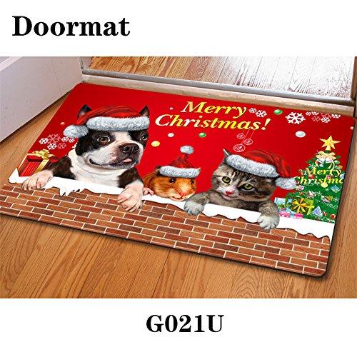 HUGSIDEA Navidad Bienvenida Felpudo Home Decorativo