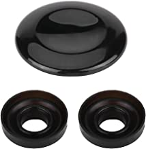 MMI Joystick Knob Repair Kit, Center Button Cover Repair Replacement with 2 Seal Ring for Audi A4 A5 A6 Q5 Q7 S5 S6 ((paint black))