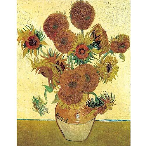 JHGJHK Pintura de Arte Pintura de Paisaje Flor Abstracta Pintura de Paisaje decoración de Interiores Pintura al óleo 4