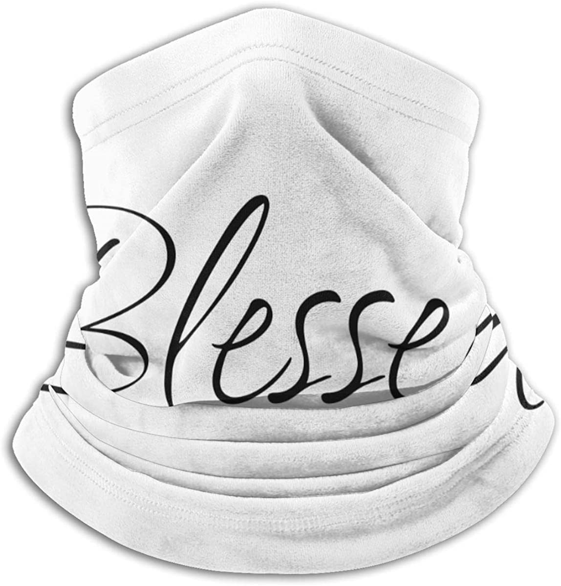 Blessed Black Multi-function Neck Warmer Gaiter Polyester Neck Warmer Windproof Winter Neck Gaiter Cold Weather Scarf For Men Women