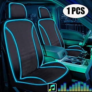 Waterproof Seat Covers for Car SUV Van Auto Black /& Red Sport Protection 2pc